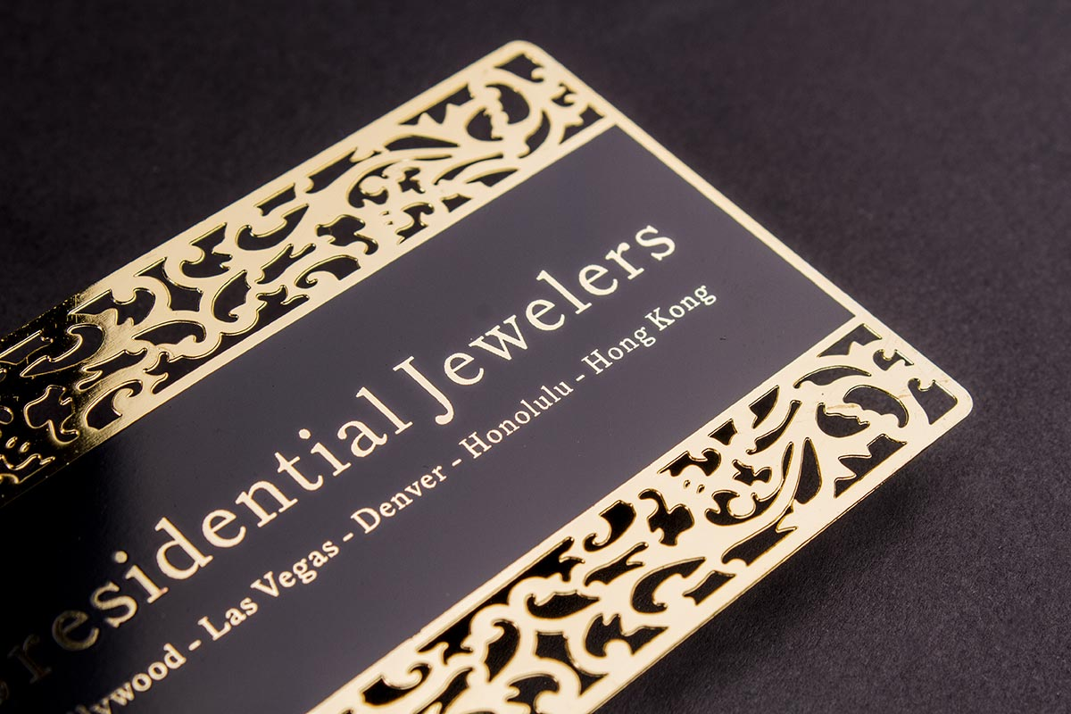 Gold Business Card 3.5x2.5 | Luxury Printing