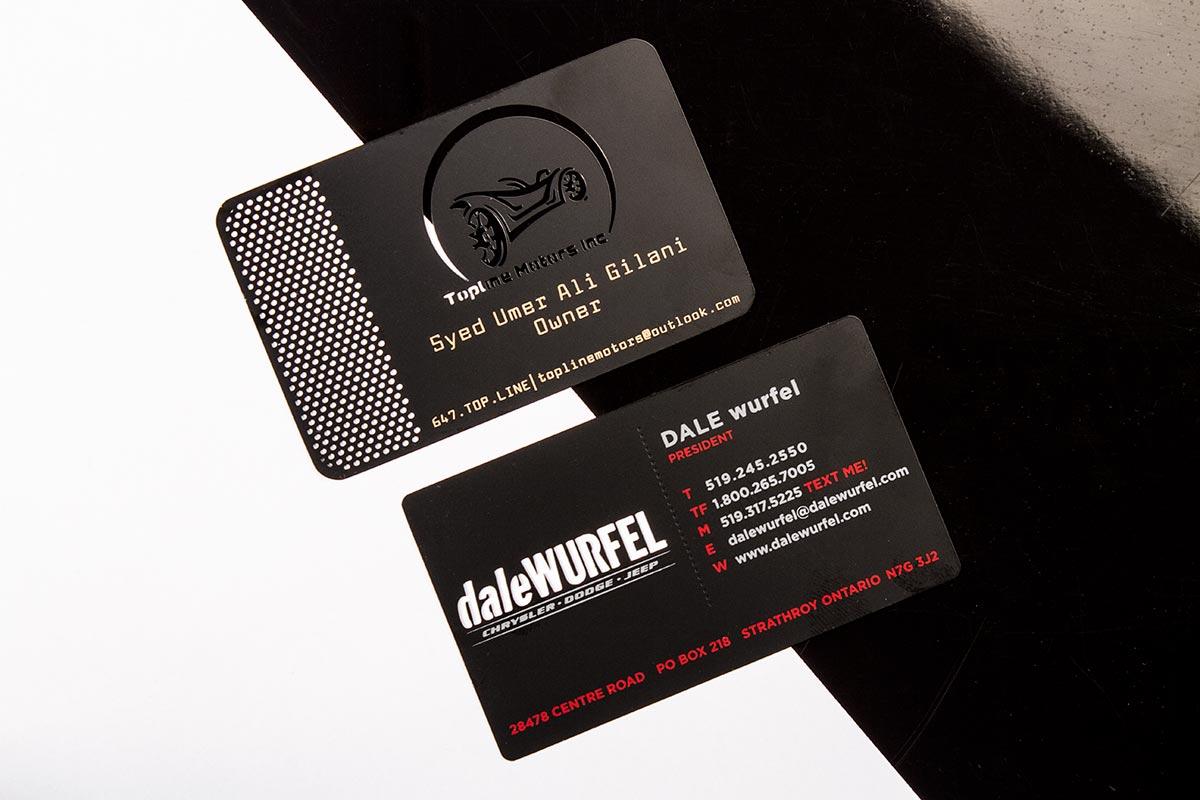 Black Metal Business Cards CNC Milled   Luxury Printing